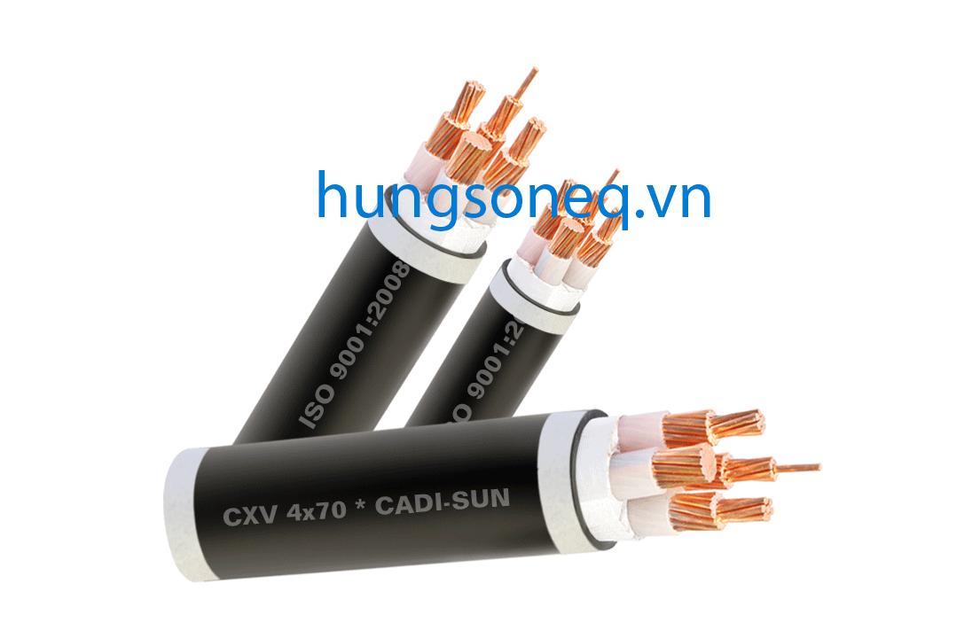 Cáp đồng treo 4x70 CU/XLPE/PVC