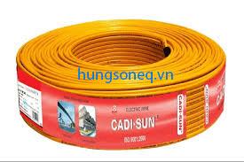 Dây điện Cadisun đôi mềm VCTFK 2x6.0 (100m/cuộn)